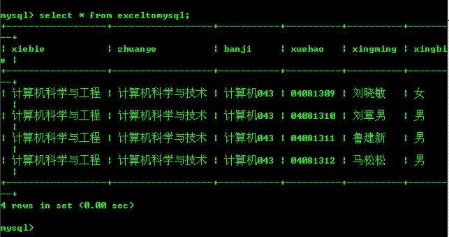 将Excel数据导入MySql - bo博 - I love evol I