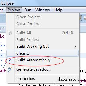 eclipse不能自动编译生成class文件的解决办法